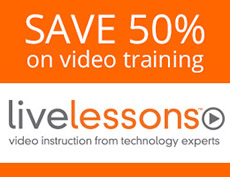 Save 50% on Video Tutorials from Pearson IT Certification