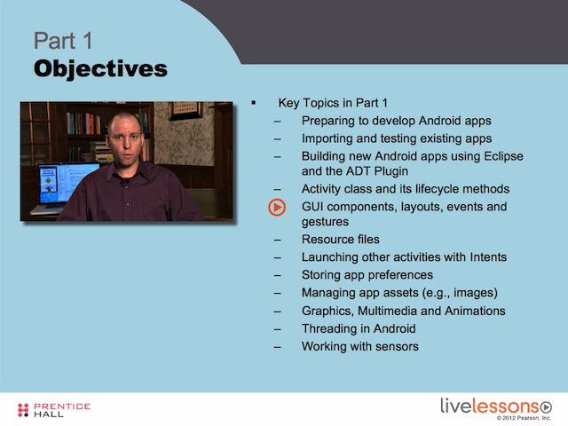 Android App Development Fundamentals I and II LiveLessons (Video Training) - Downloadable Video