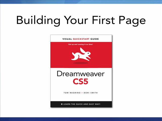 Dreamweaver CS5: Video QuickStart Guide, Online Video