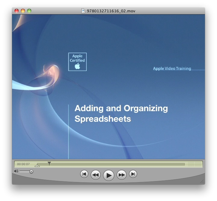 Apple Video Training: Numbers for iPad, Online Video