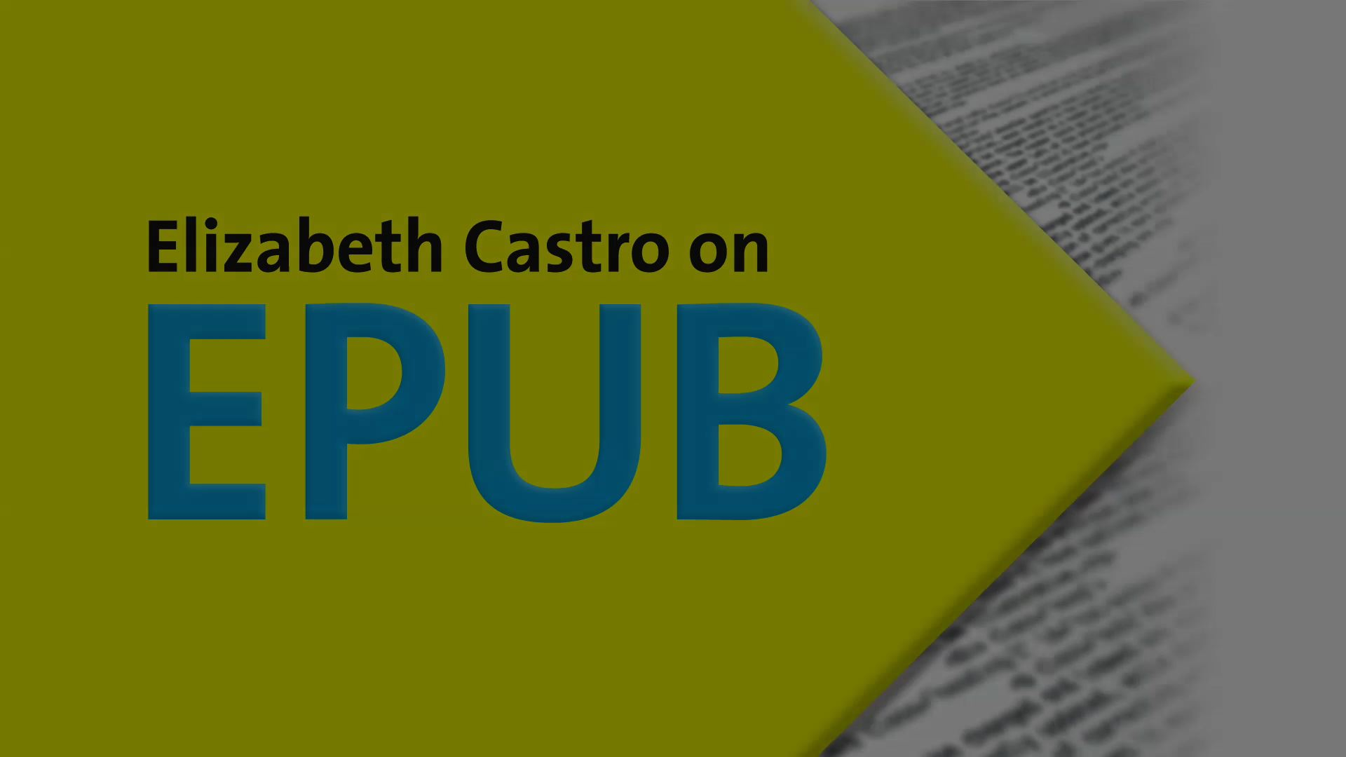 Elizabeth Castro on EPUB