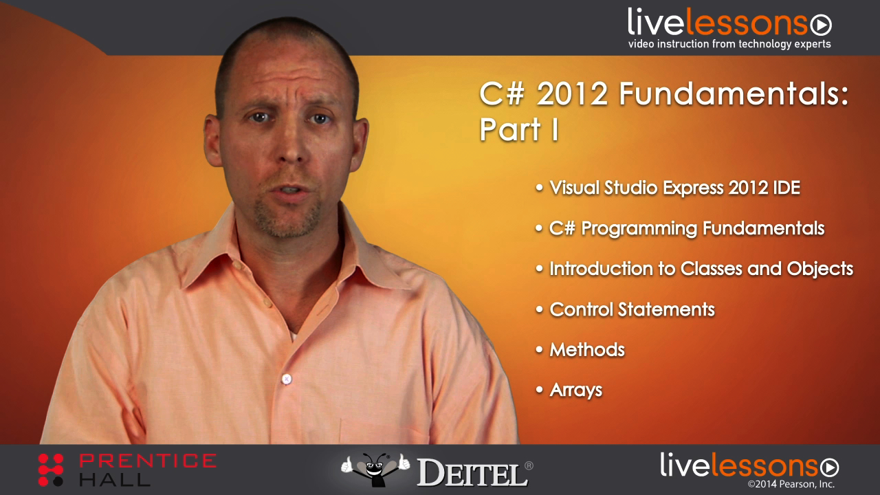 C# 2012 Fundamentals LiveLessons Part I of IV (Video Training)
