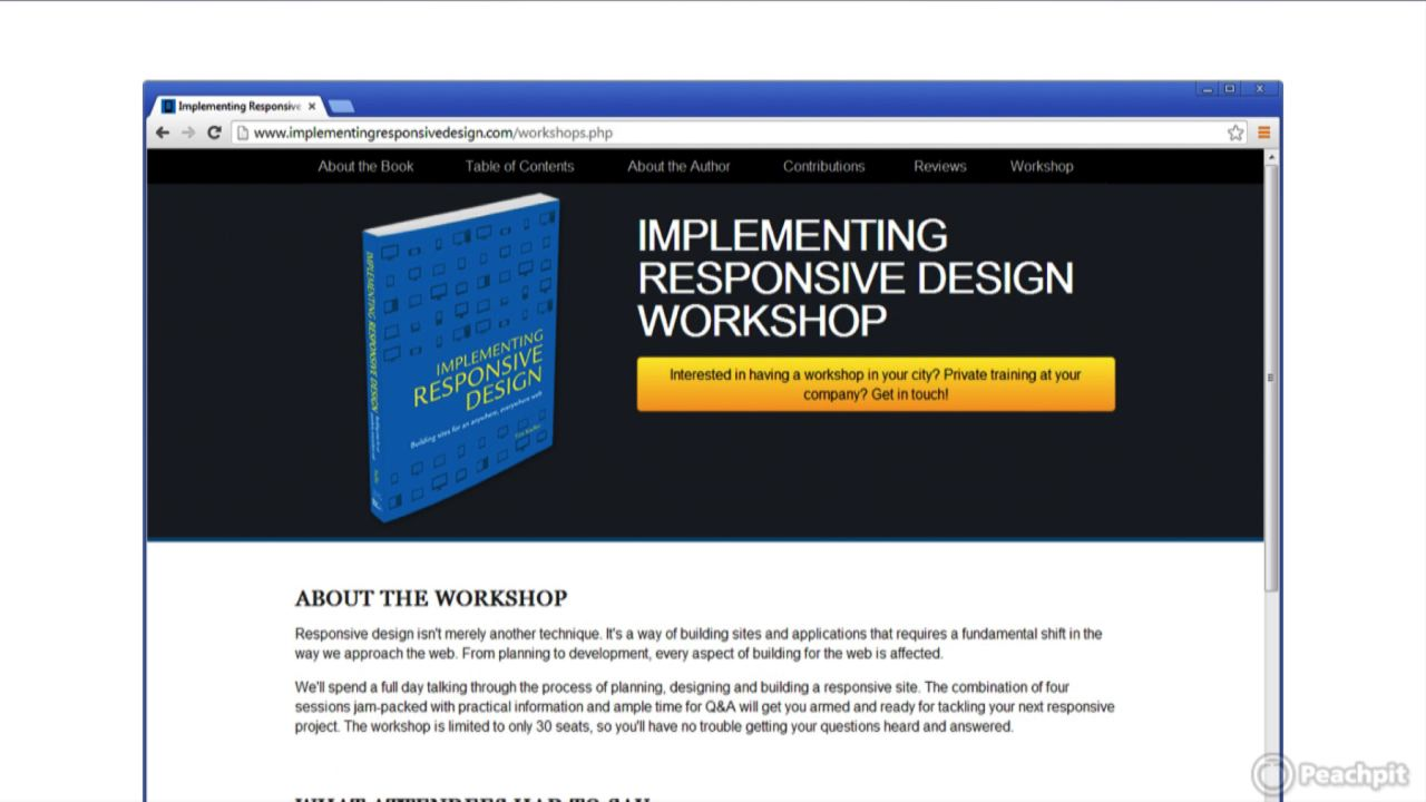 Responsive Web Design: Learn by Video