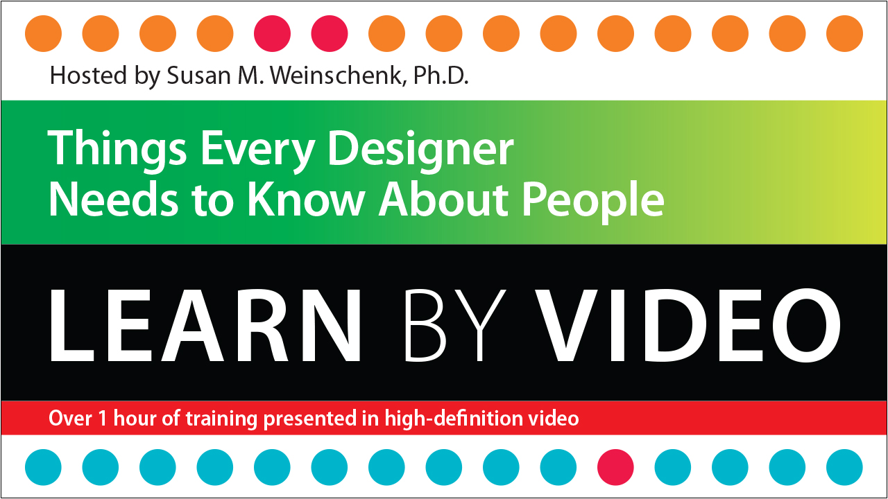 Things Every Designer Needs to Know about People: Learn by Video