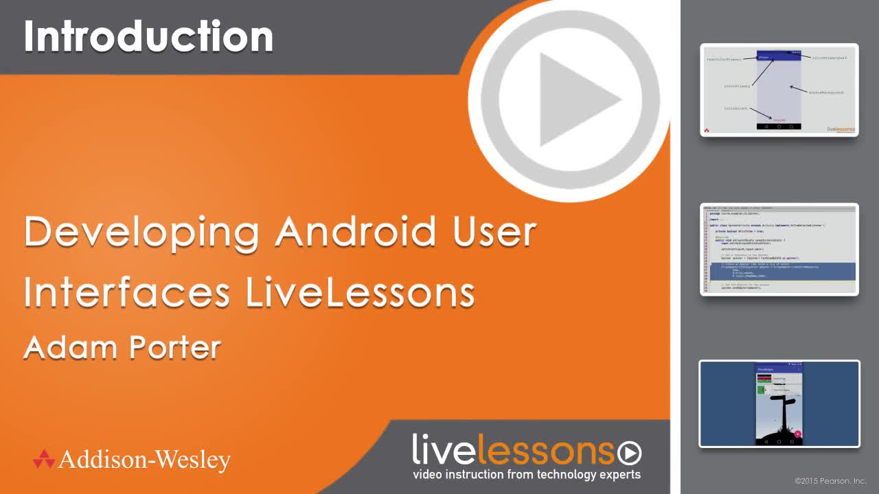 Developing Android User Interfaces LiveLessons (Video Training), Downloadable