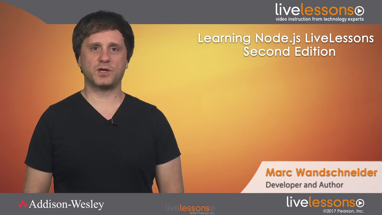 Learning Node js LiveLessons (Video Training), 2nd Edition | InformIT
