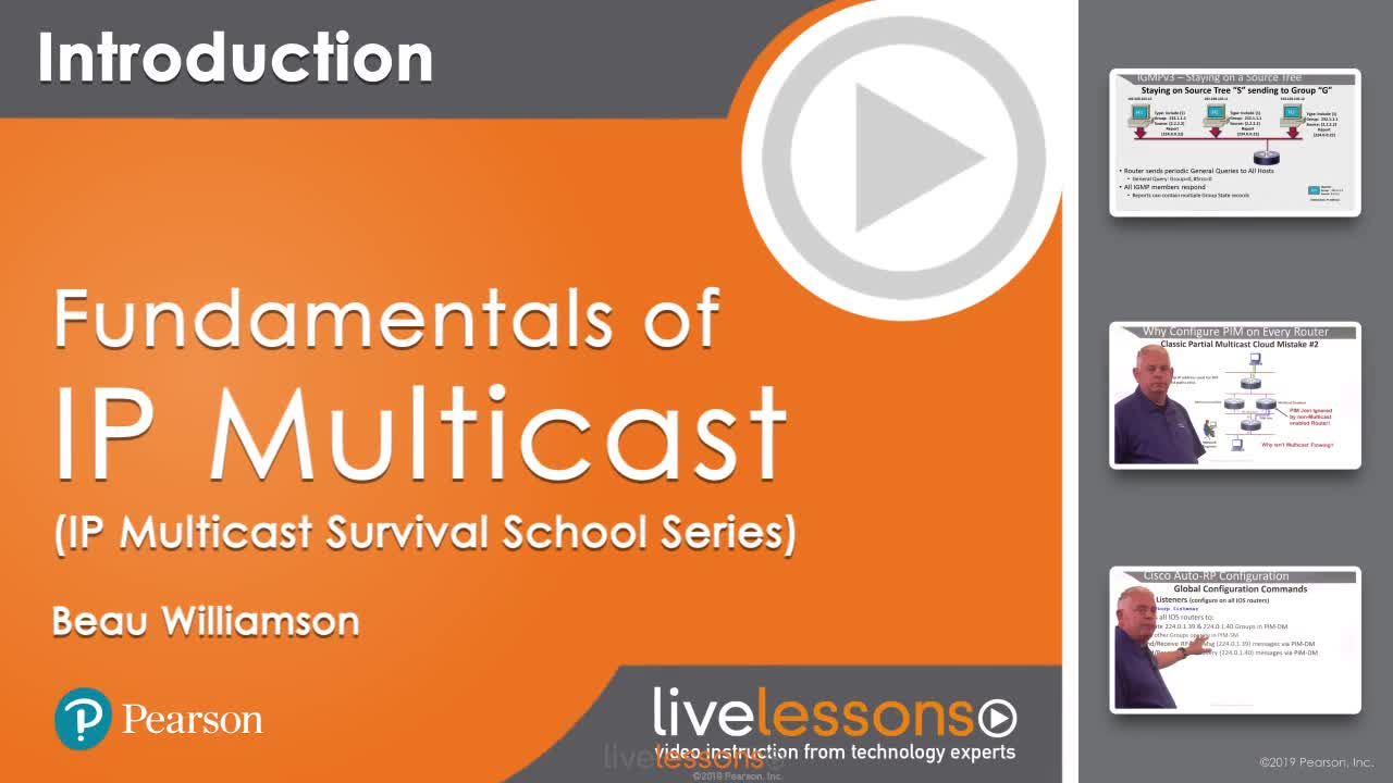 Fundamentals of IP Multicast (IP Multicast Survival School Series) LiveLessons