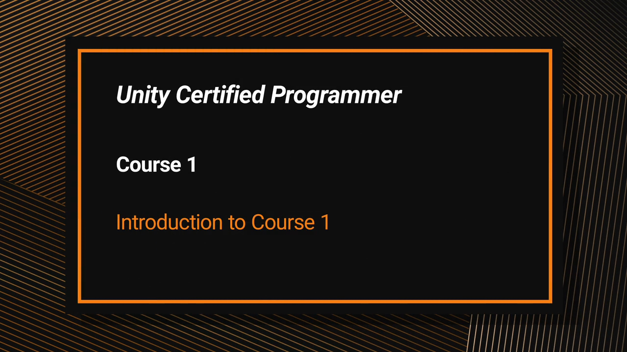 Unity Certified Programmer Exam Courseware (Video Training)