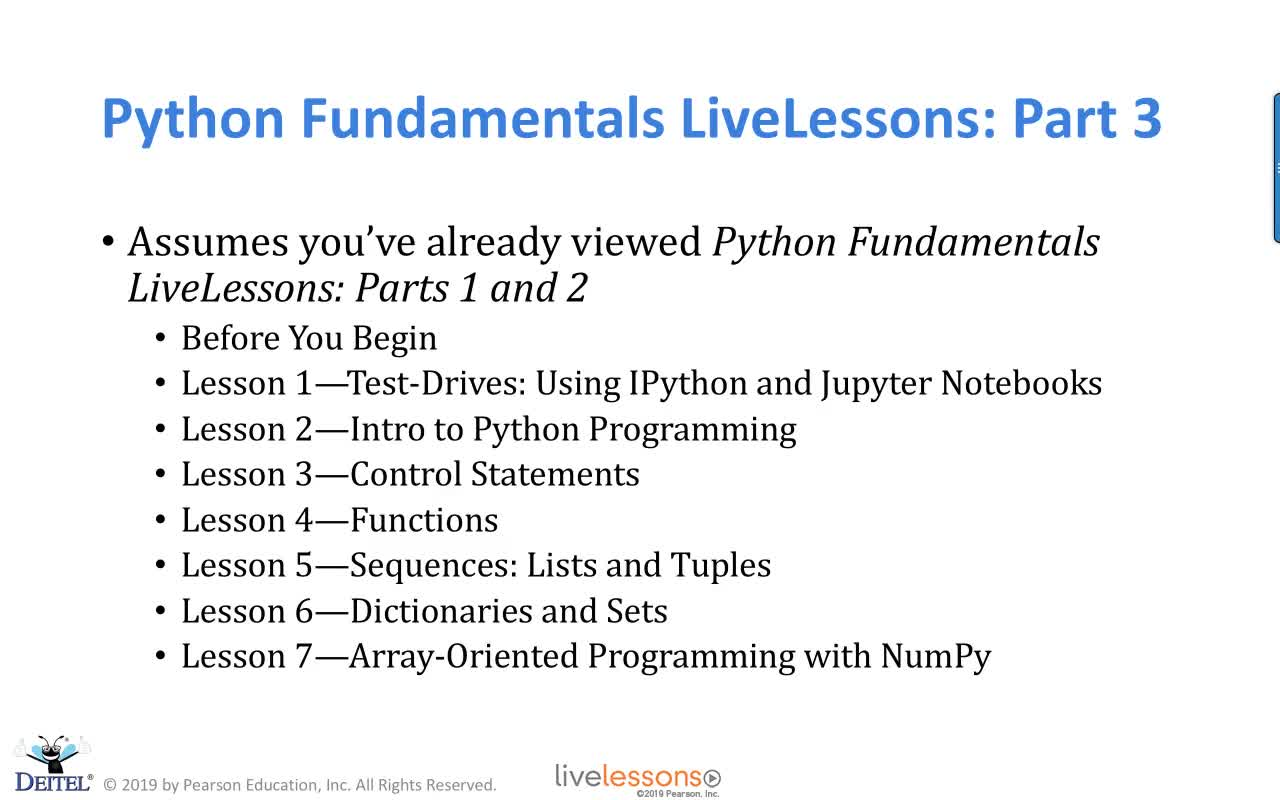 Python Fundamentals LiveLessons Part III (Video Training