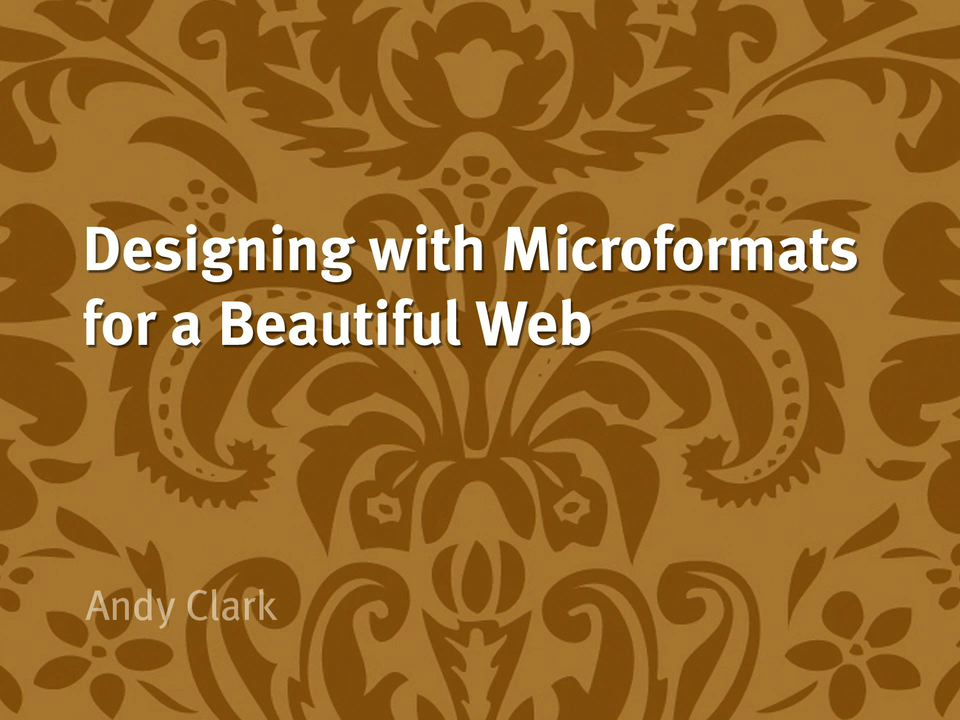 Designing with Microformats for a Beautiful Web, DVD