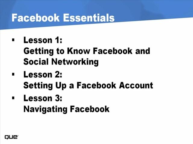 Facebook Essentials (Video Training), 2nd Edition