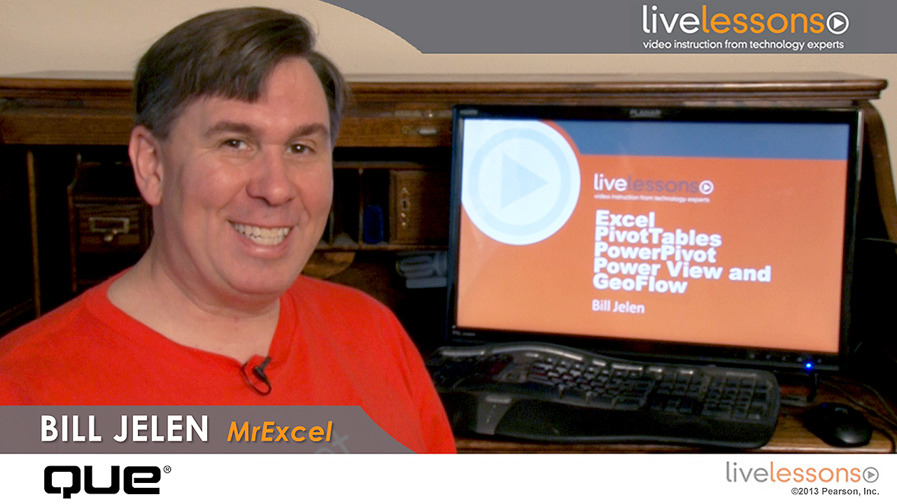 Excel PivotTables, PowerPivot, Power View, and Power Map with MrExcel LiveLessons (Video Training)