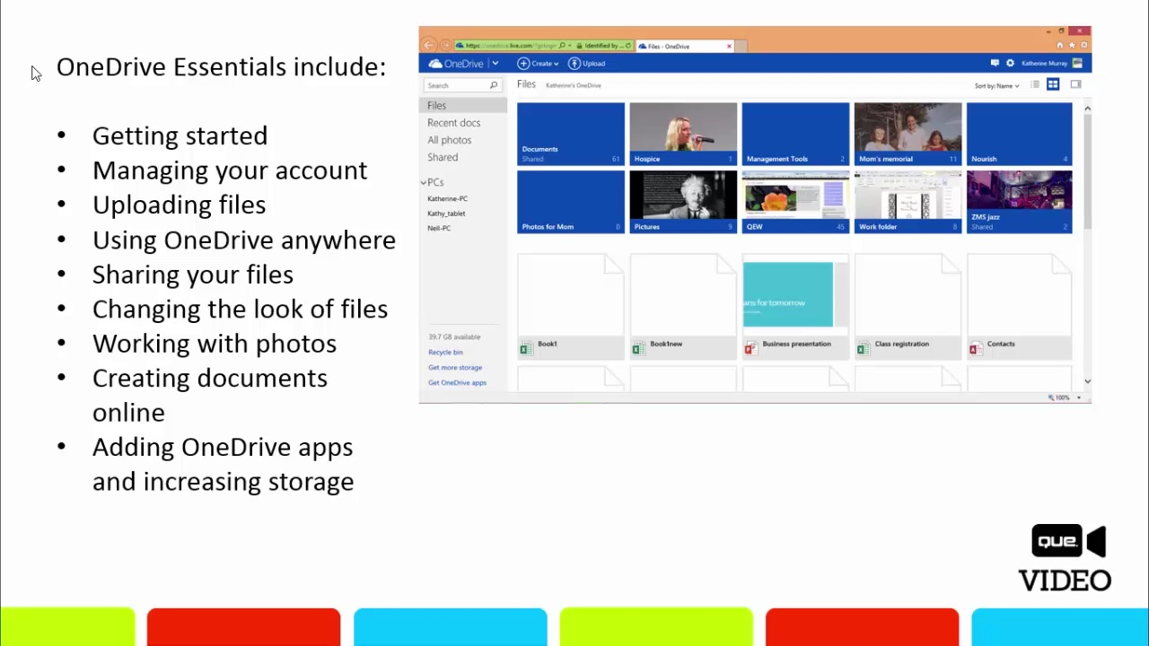 OneDrive Essentials (Que Video)