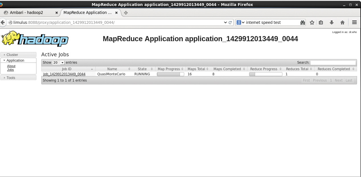 Figure 4.4 Hadoop YARN ApplicationMaster for MapReduce application