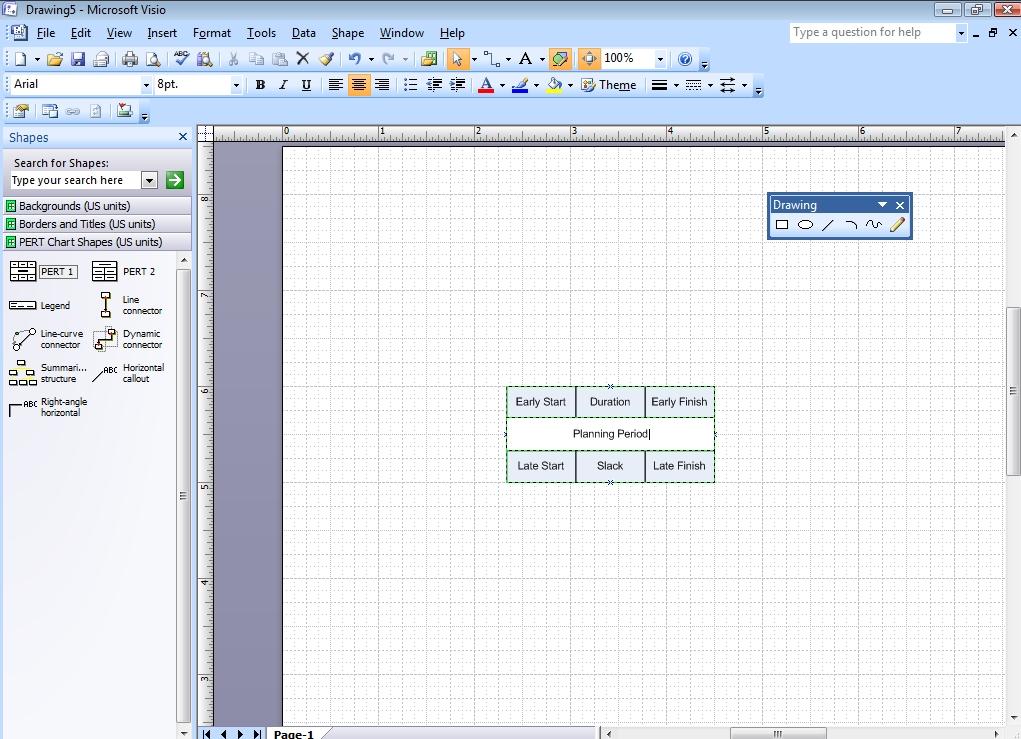 Pert Template Excel