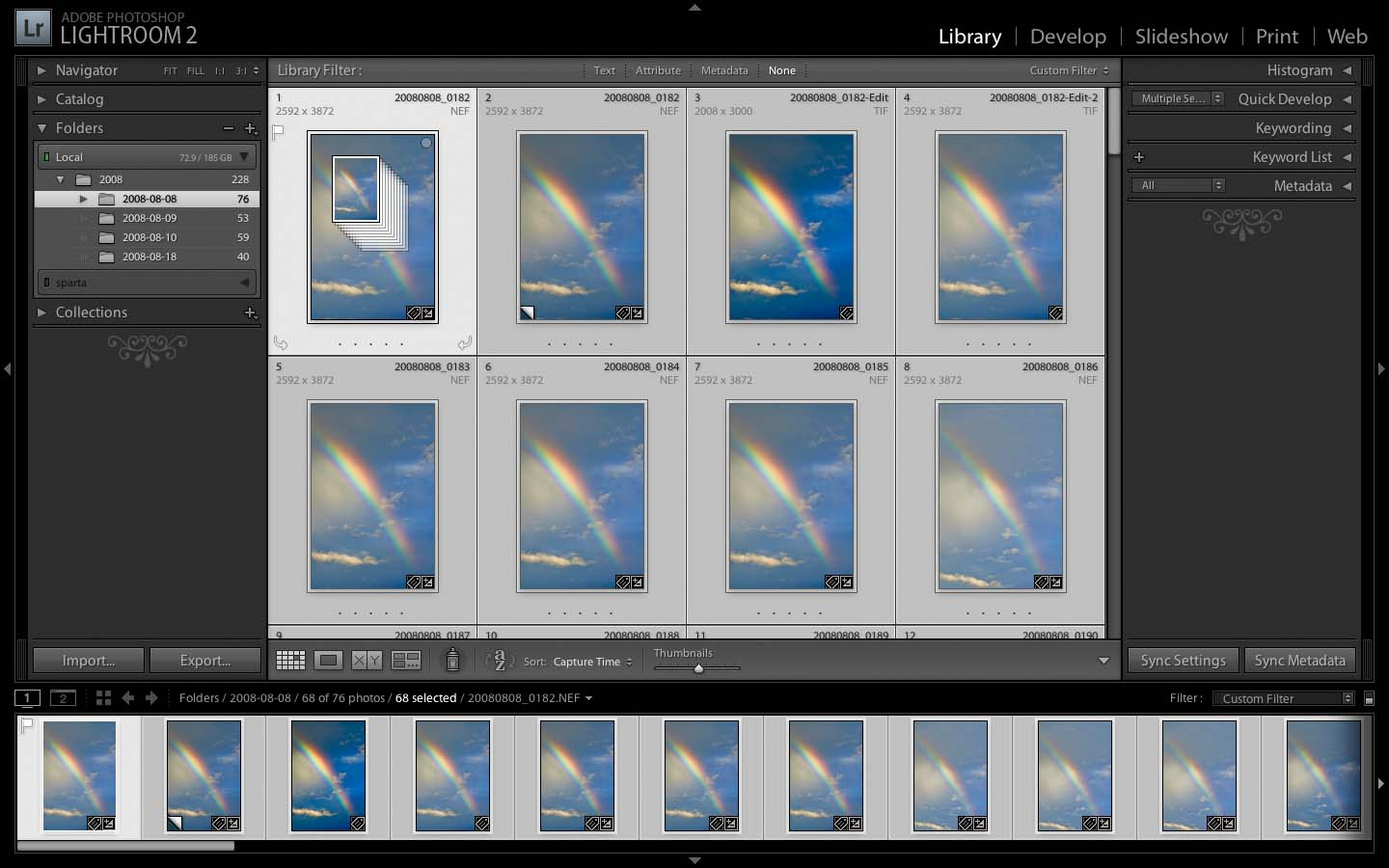 Moving Photos in Lightroom