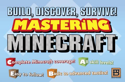 The Mastering Minecraft Unofficial Strategy Guide available for sale at BradyGames.com
