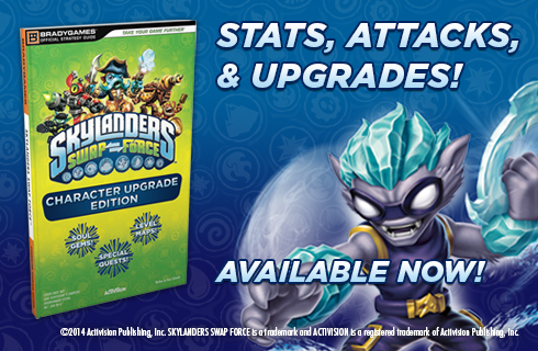 Skylanders SWAP Force Character Upgrade Edition is available for sale at bradygames.com