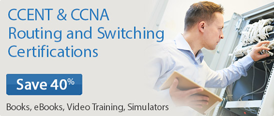 Save 40% on CCENT & CCNA Routing and Switching titles from Cisco Press