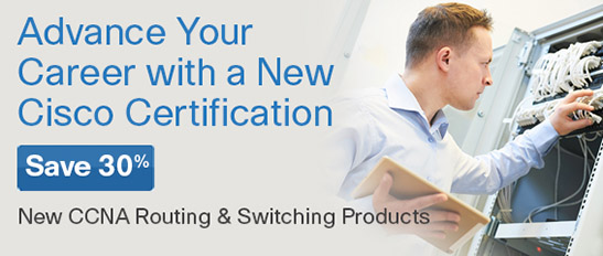 Save 30% on New CCENT & CCNA Routing and Switching titles from Cisco Press