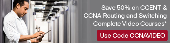 Save up to 50% on New CCNA Titles