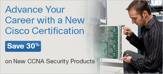 Save 30% on CCNA Security titles from Cisco Press
