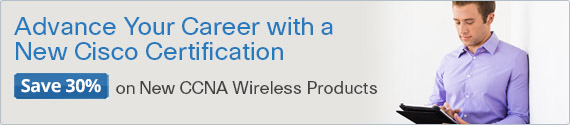 Save 30% on CCNA Wireless titles from Cisco Press
