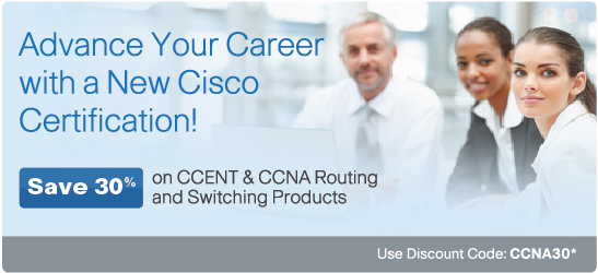 Save 30% on CCENT and CCNA Routing and Switching Products from Cisco Press