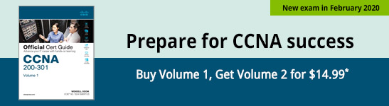 Special offer: Buy CCNA Official Cert Guide, Volume 1 and get Volume 2 for $14.99
