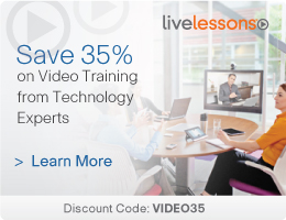 Save 35% on LiveLessons Video Training from Cisco Press