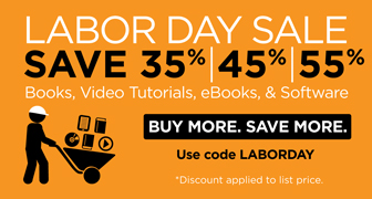 Save up to 55% on books, eBooks, video, software, and practice tests from Pearson IT Certification