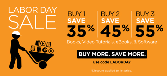Save up to 55% on books, eBooks, video, software, and practice tests from Cisco Press