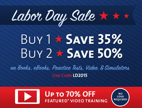 Save up to 70% in the Labor Day Sale from Cisco Press