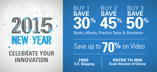 Save up to 50% in the New Year's Sale from Cisco Press