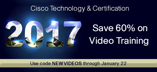 Save 60% on video training from Cisco Press