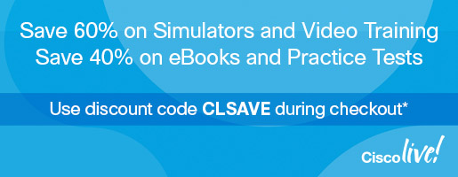 Save up to 60% on digital learning plus enter for a chance to win in the Cisco Live Pre-Show Sale from Pearson IT Certification and Cisco Press