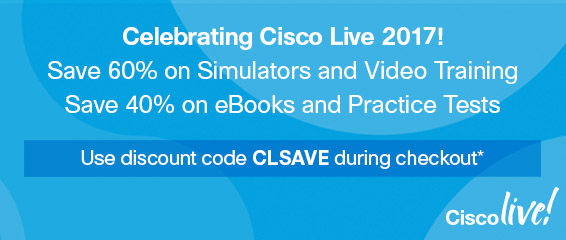 Save up to 60% on digital learning in the Cisco Live Pre-Show Sale from Pearson IT Certification