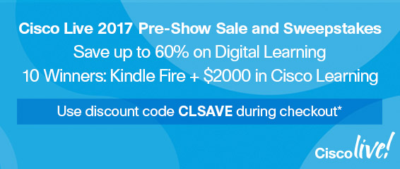 Save up to 60% on digital learning and enter sweepstakes from Cisco Press