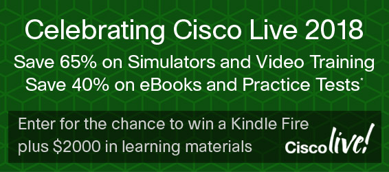 Save up to 65% in the Cisco Live 2018 Sale from Pearson IT Certification