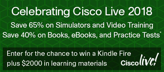 Save up to 65% in the Cisco Live Sale from Cisco Press