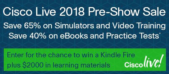 Save up to 65% in the Cisco Live Pre-Show Sale from Cisco Press