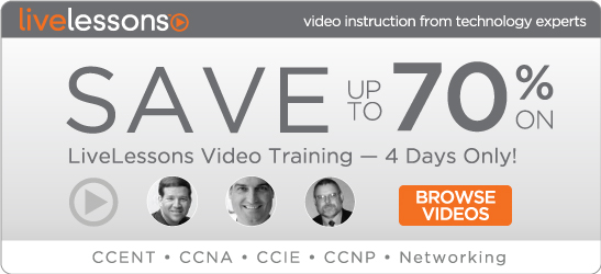 Save up to 70% on Video Course Downloads from Cisco Press