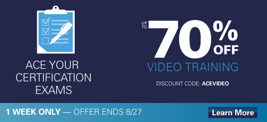 Save 70% on select video training from Cisco Press