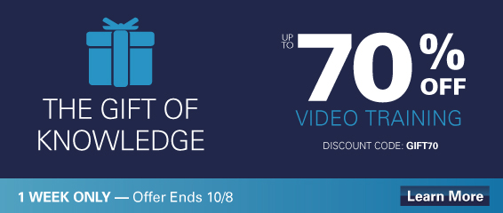 70% Off Select LiveLessons Video Courses - Prepare for your Cisco, CompTIA, ITIL, Vmware, Salesforce, or Red Hat Certification