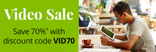 Save 70% on eligble full-course video training from Pearson IT Certification