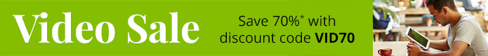 Save 70% in the Video Sale from Pearson IT Certification