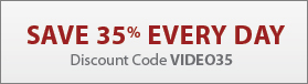 Save 35% every day with discount code VIDEO35