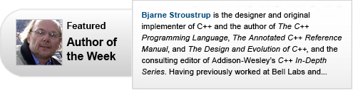 Featured Author of the Week: Bjarne Stroustrup