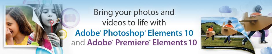 Adobe Photoshop Elements 10 and Adobe Premiere Elements 10