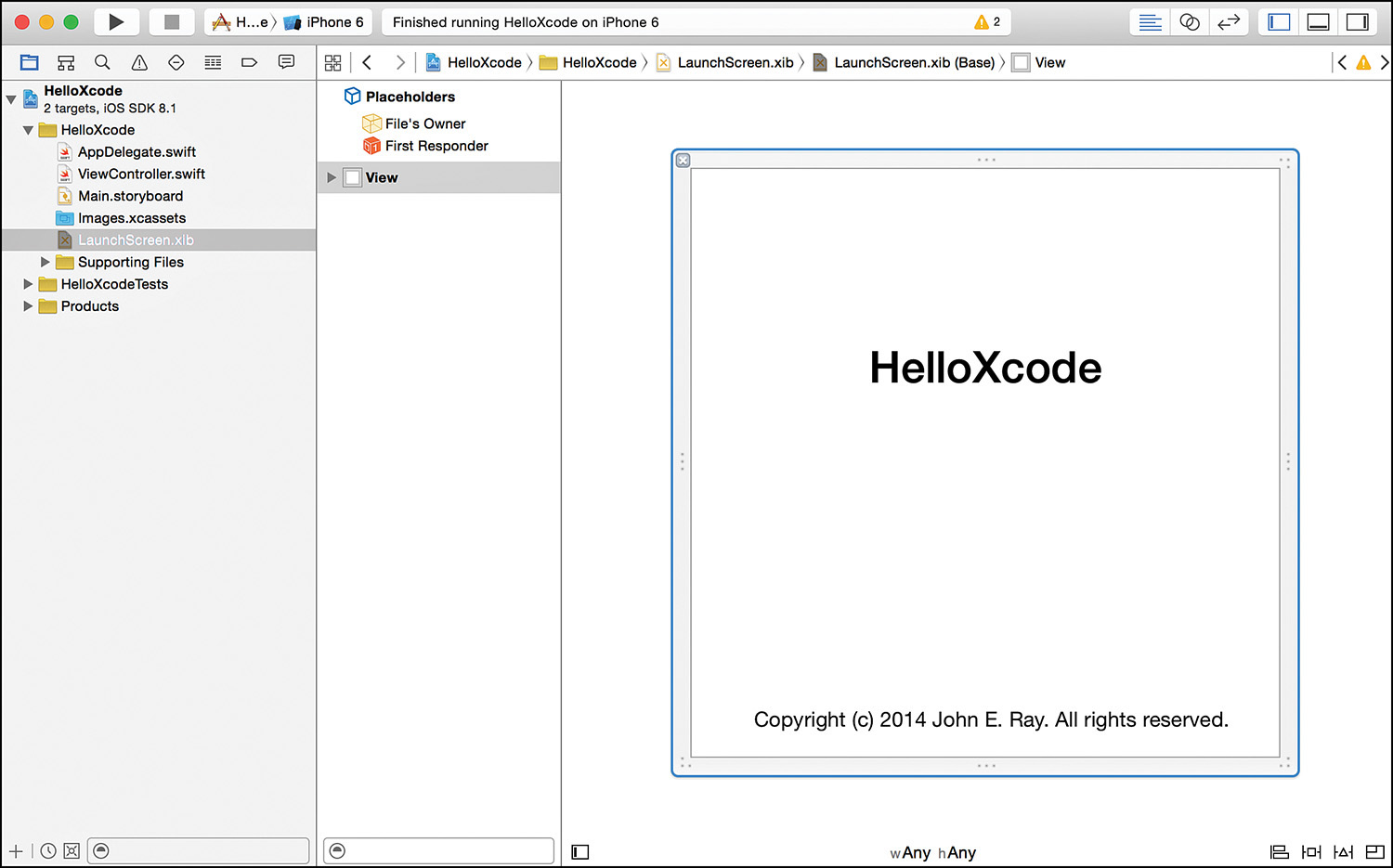 Hour 2: Introduction to Xcode and the iOS Simulator